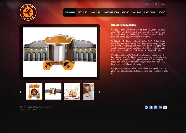 Thiết kế web giới thiệu doanh nghiệp Quảng Nam