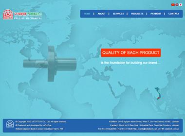 Thiết kế web giới thiệu công ty VIDOTECH