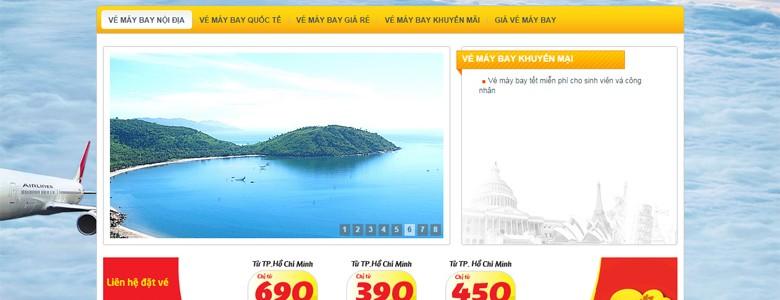 Thiết kế web bán vé máy bay Phongvequehuong.com