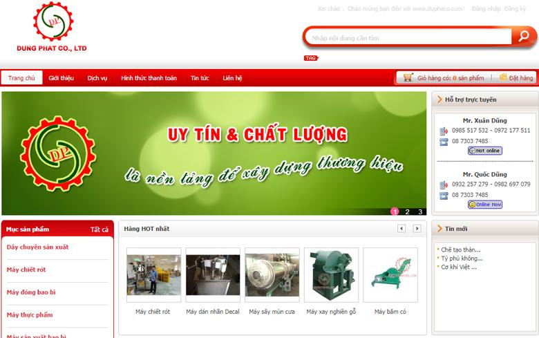 Thiết kế web giới thiệu công ty DuPhaCo