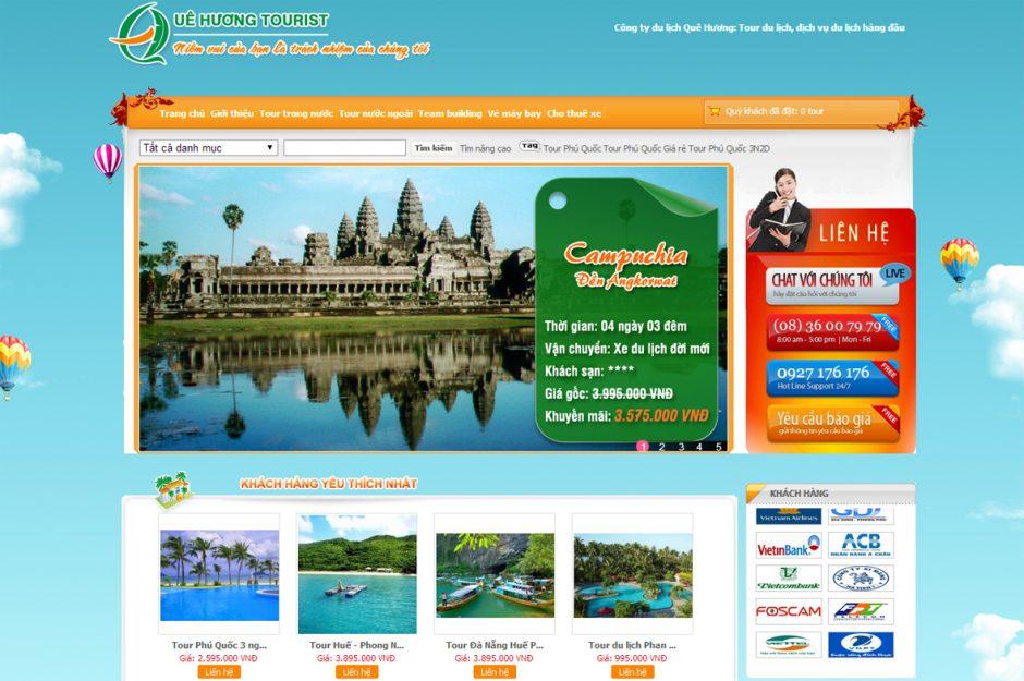 Thiết kế web du lịch Quê Hương