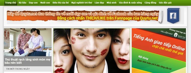 Thiết kế web tin tức Quytu.net