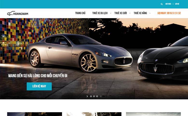Thiết kế web cho thuê xe Hoàng Nam