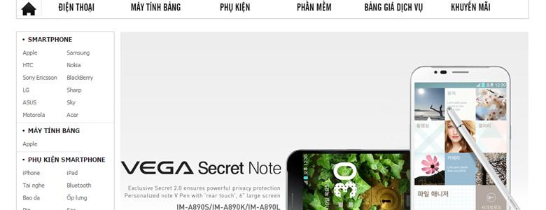 Thiết kế web bán hàng Vinadienthoai