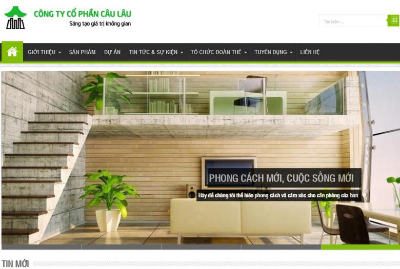 Thiết kế web Công ty Câu Lâu