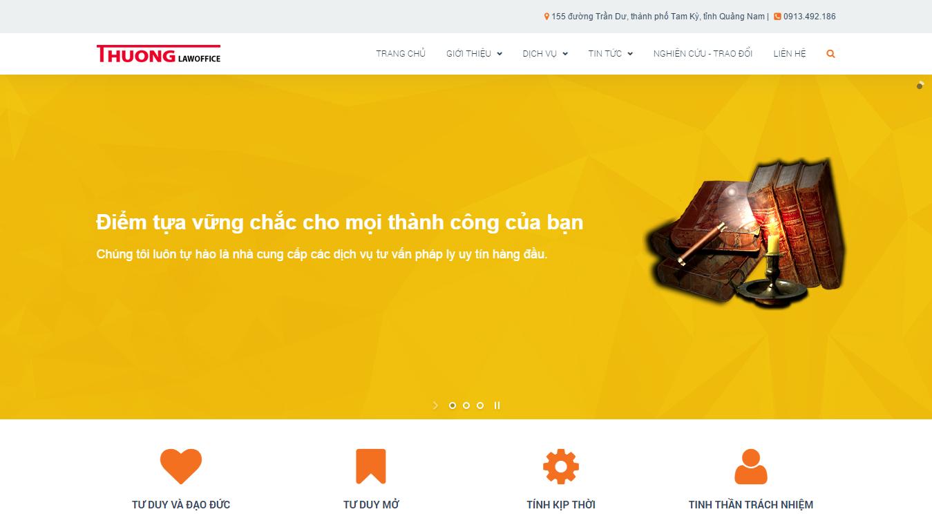 Thiết kế web văn phòng luật sư Thương