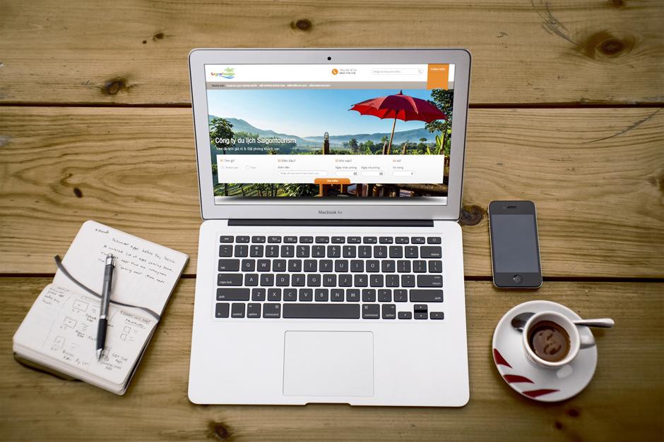 Thiết kế web công ty du lịch Saigontourism