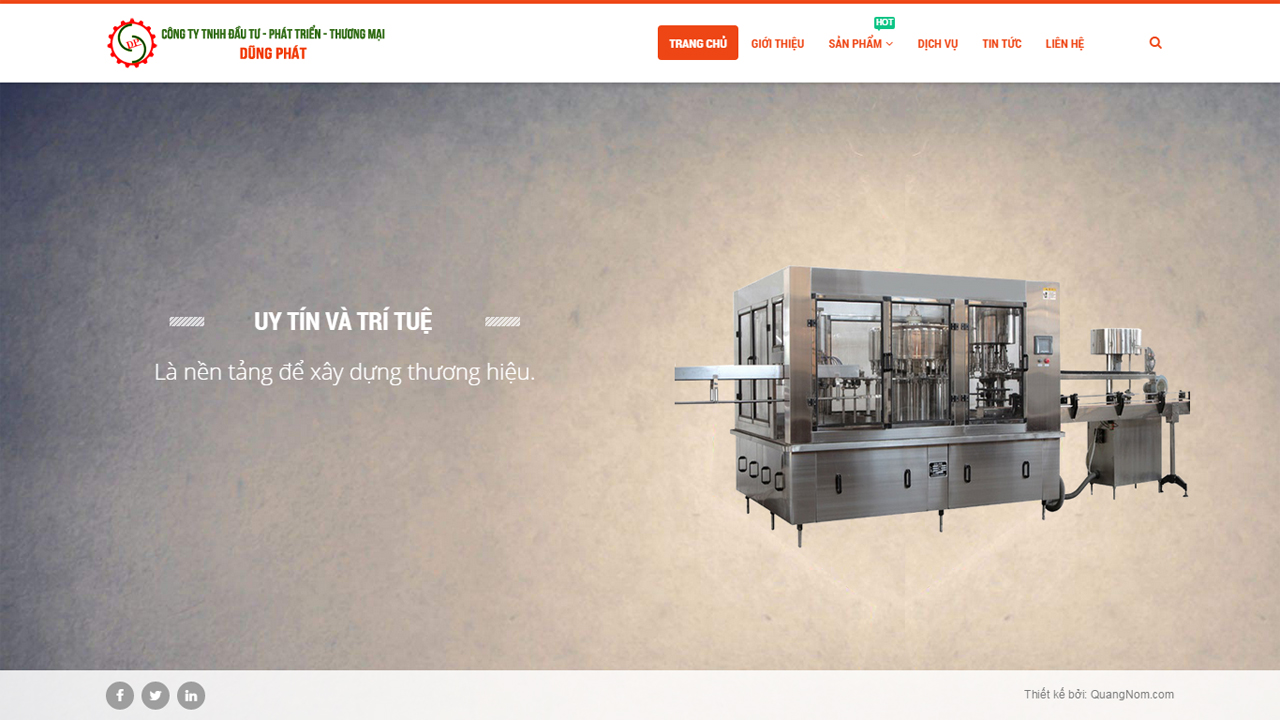 Thiết kế website công ty chế tạo máy Dũng Phát
