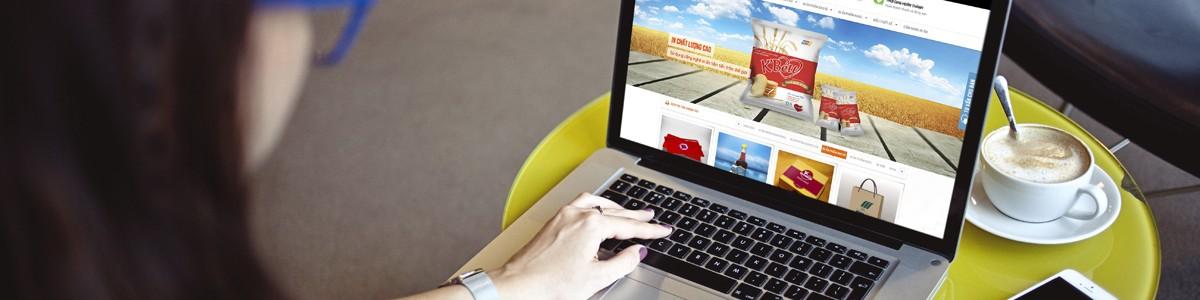 Thiết kế website In129.vn với giao diện chuyên nghiệp và nội dung hoàn chỉnh