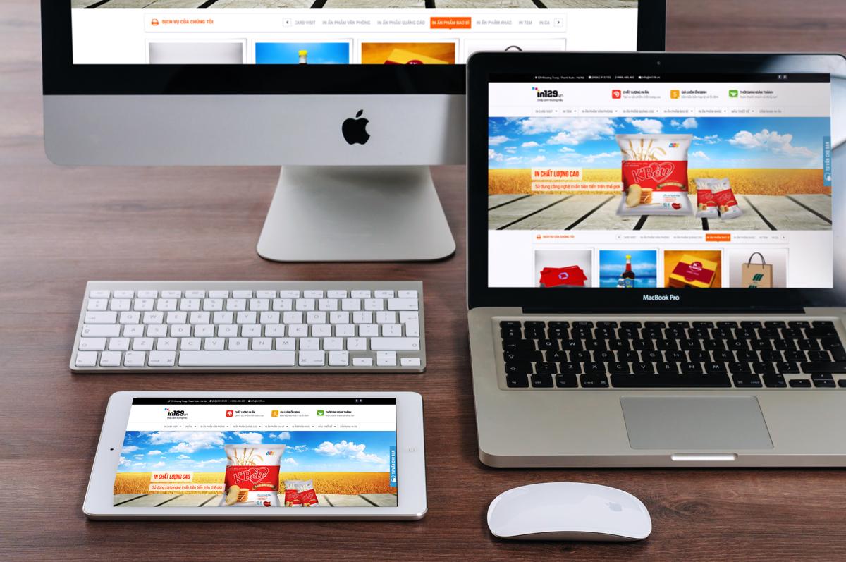 thiết kế website in ấn