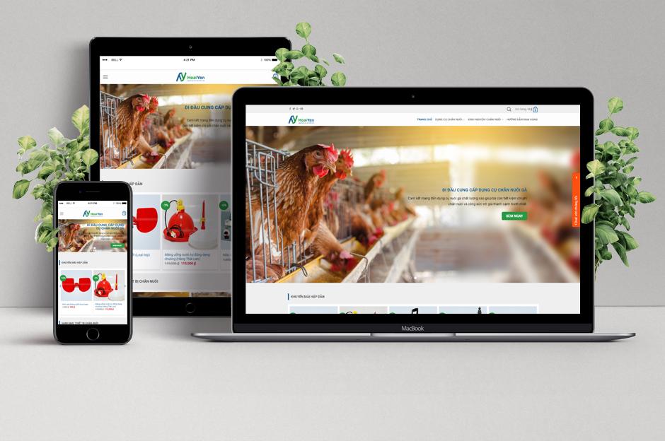 Thiết kế web công ty Hoài Yến