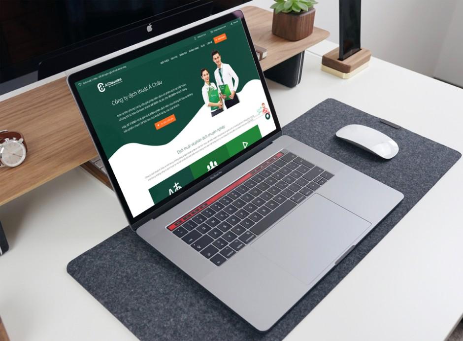 Thiết kế web công ty dịch thuật Á Châu